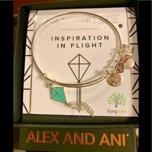 """Alex & Ani """"Inspiration in Flight""""Silver bracelet"""